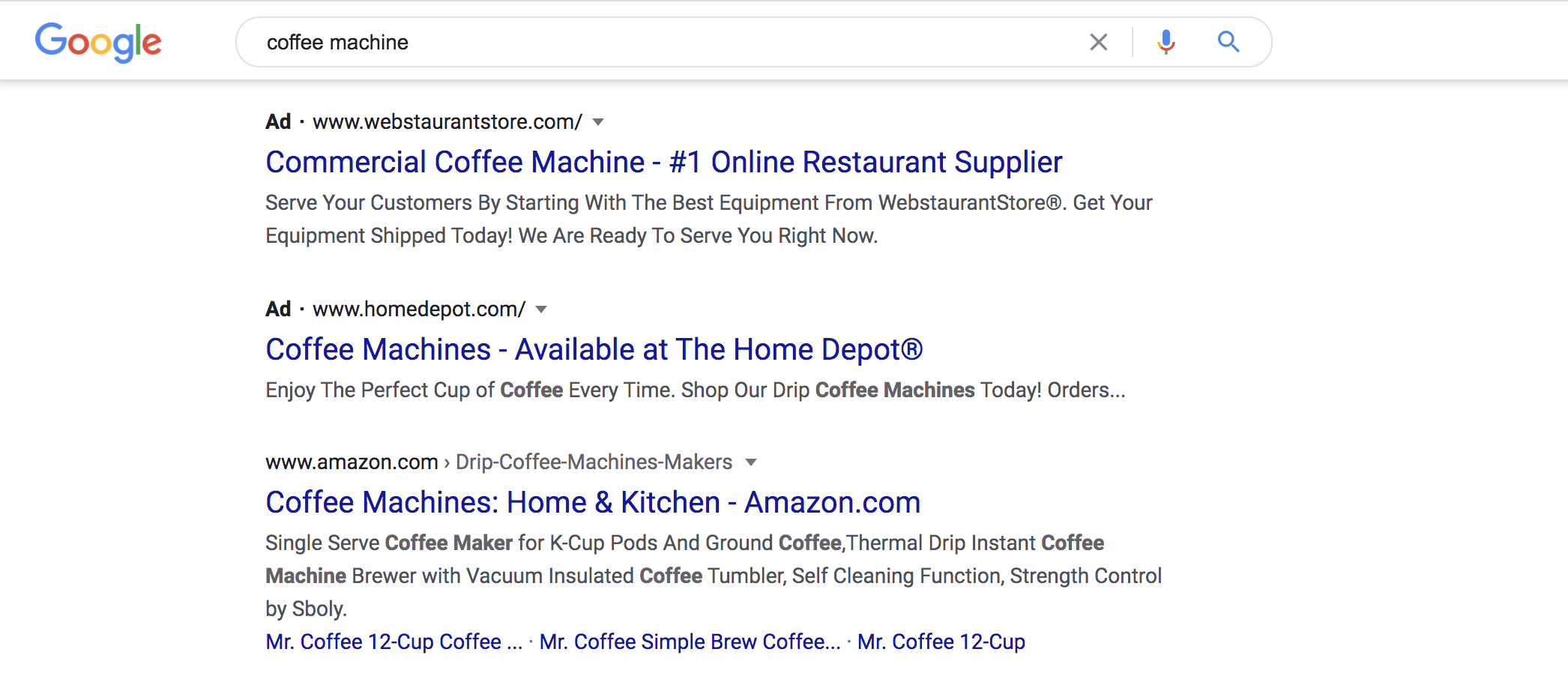 search PPC ads