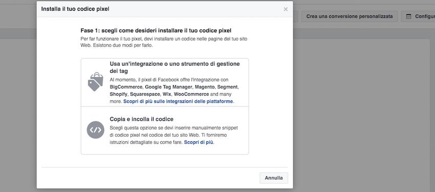 Come installare il codice del pixel di Facebook: 2 opzioni