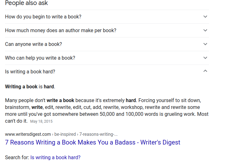 people also ask on serp example