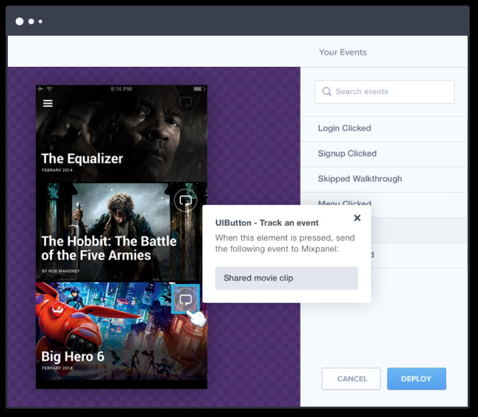 Mixpanel web analytics platform