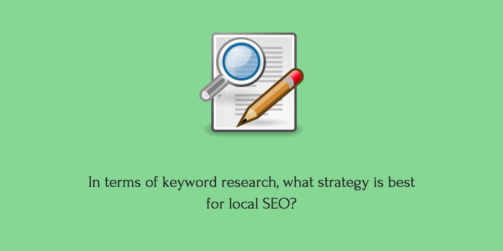 Keyword research for local SEO