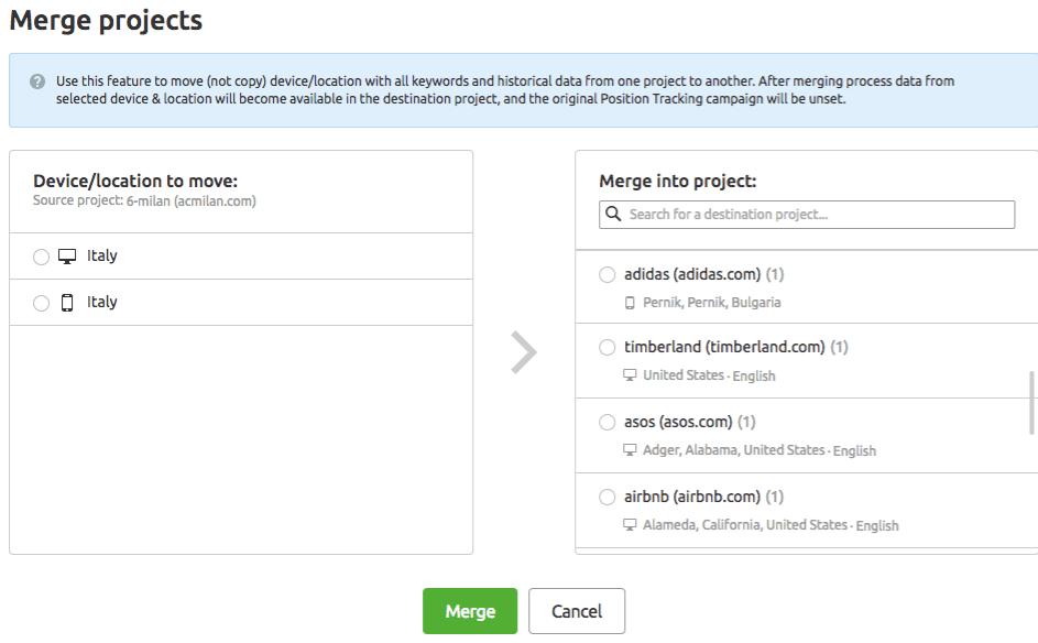Position tracking: come unire progetti e ottenerne uno solo multitargeting