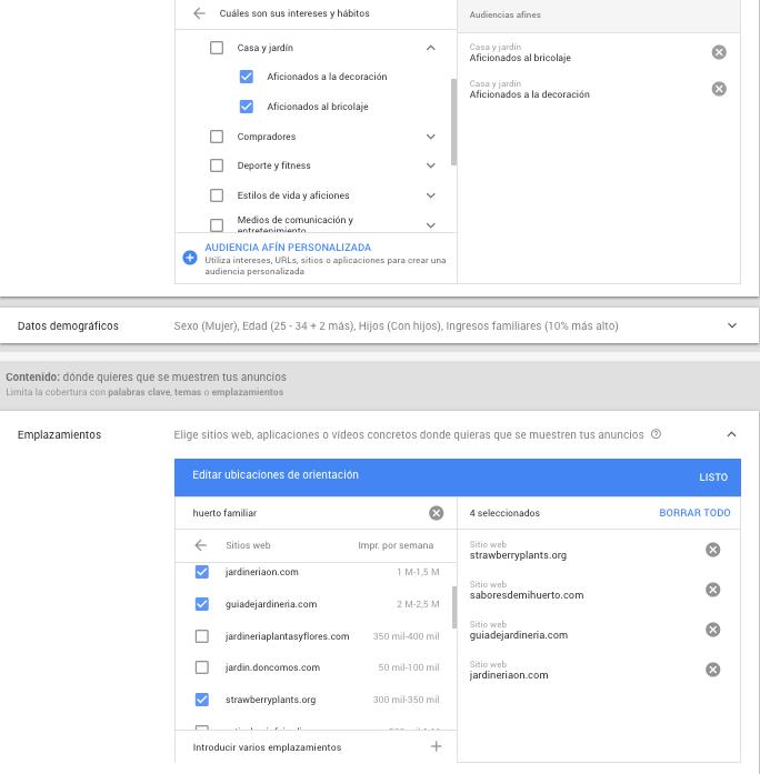 Google Display Network - Afinidad y gestión de ubicaciones