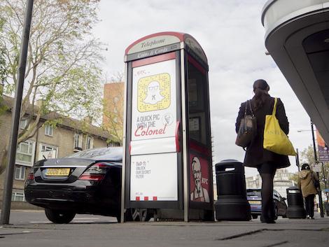 Campanha do KFC com o Snapchat no Reino Unido