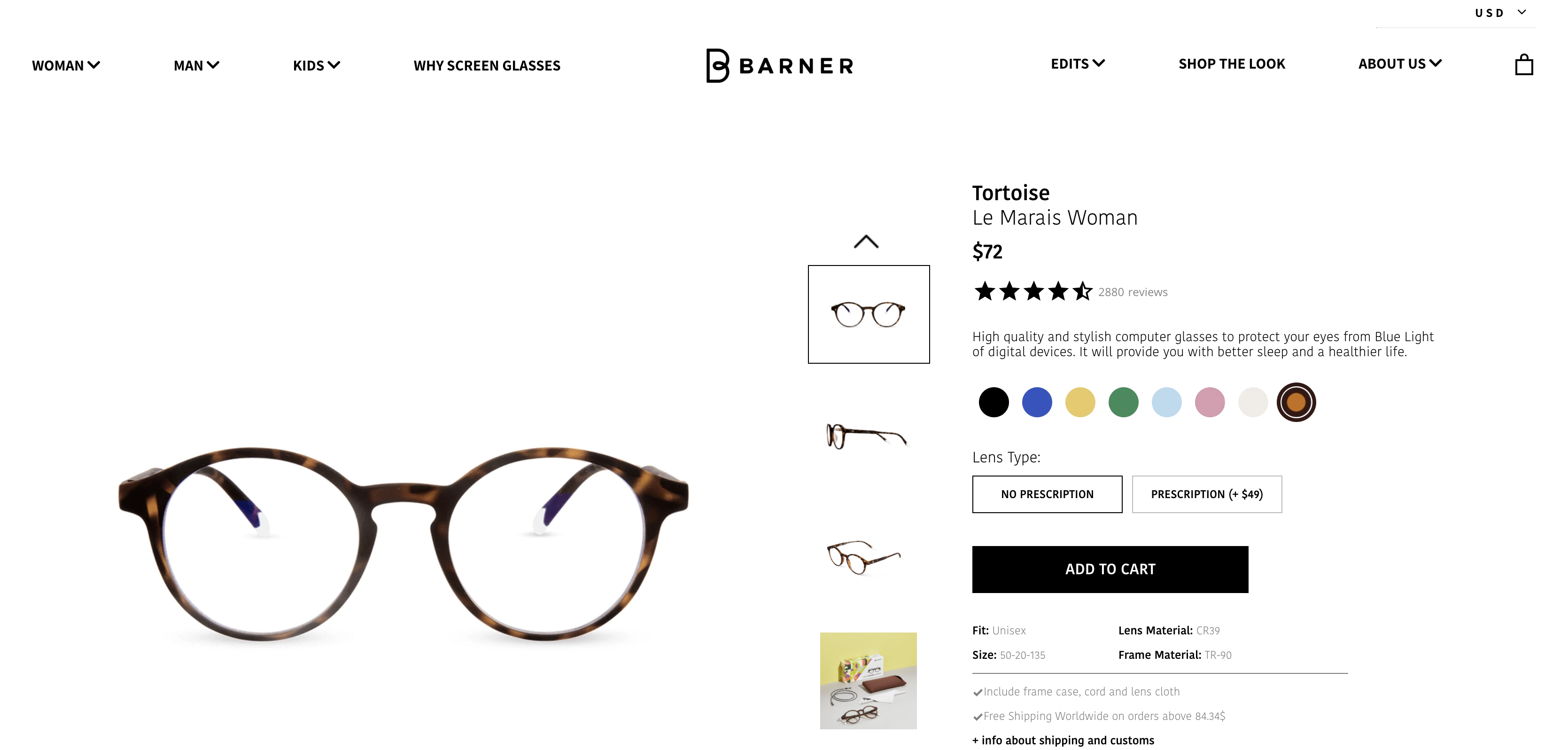 Barner Product Page