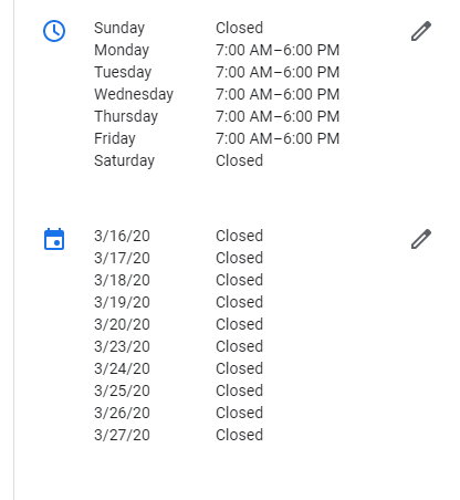 Adding special hours in GMB.