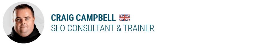 Craig CampbellSEO Consultant & Trainer