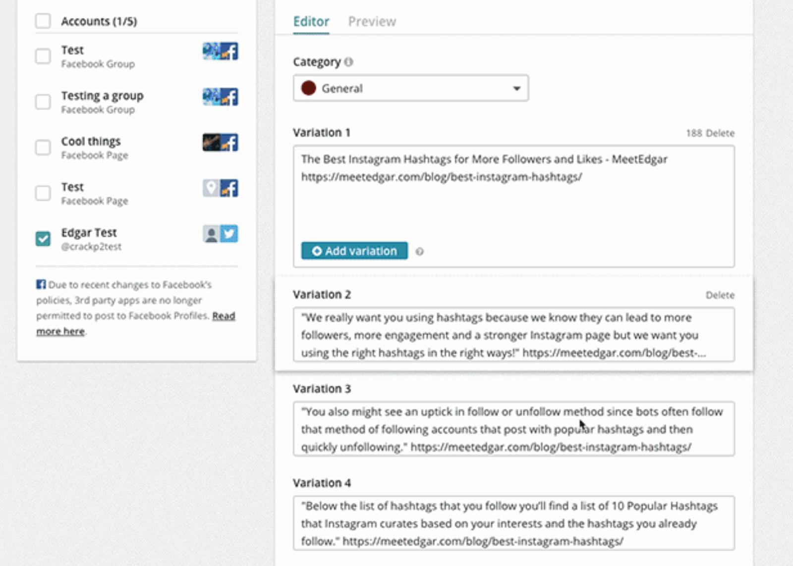 repurpose content with meetedgar