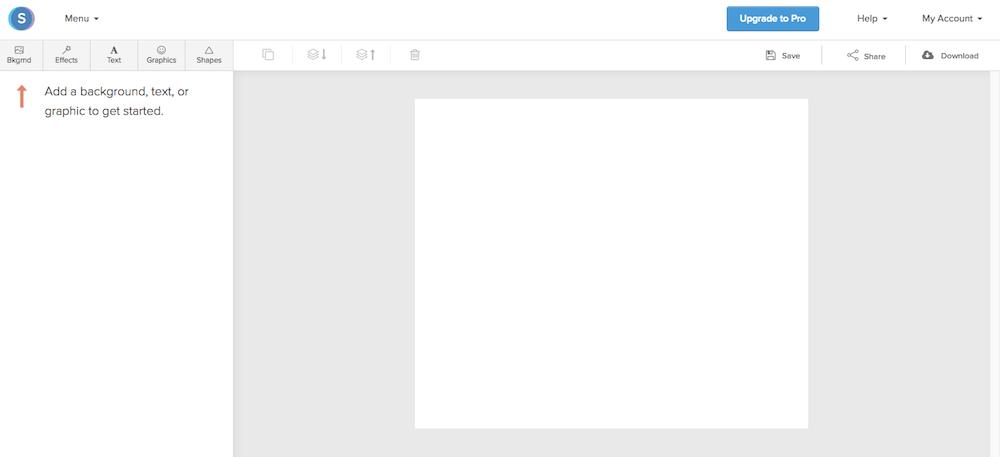 La Dashboard di Snappa, programma di grafica gratuito