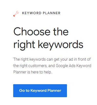 Google Keyword Planner - Acceso