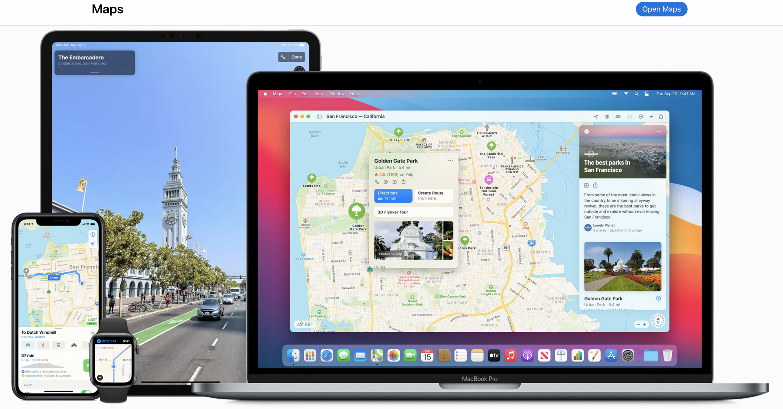 apple maps screenshot from site