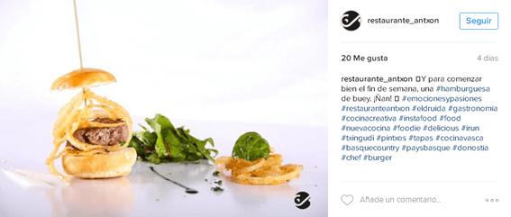 Redes Sociales para restaurantes - Publicación ok en Instagram