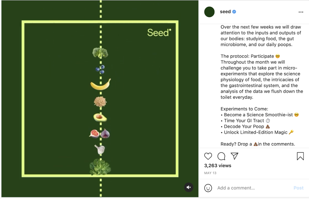 Content marketing examples - Seed