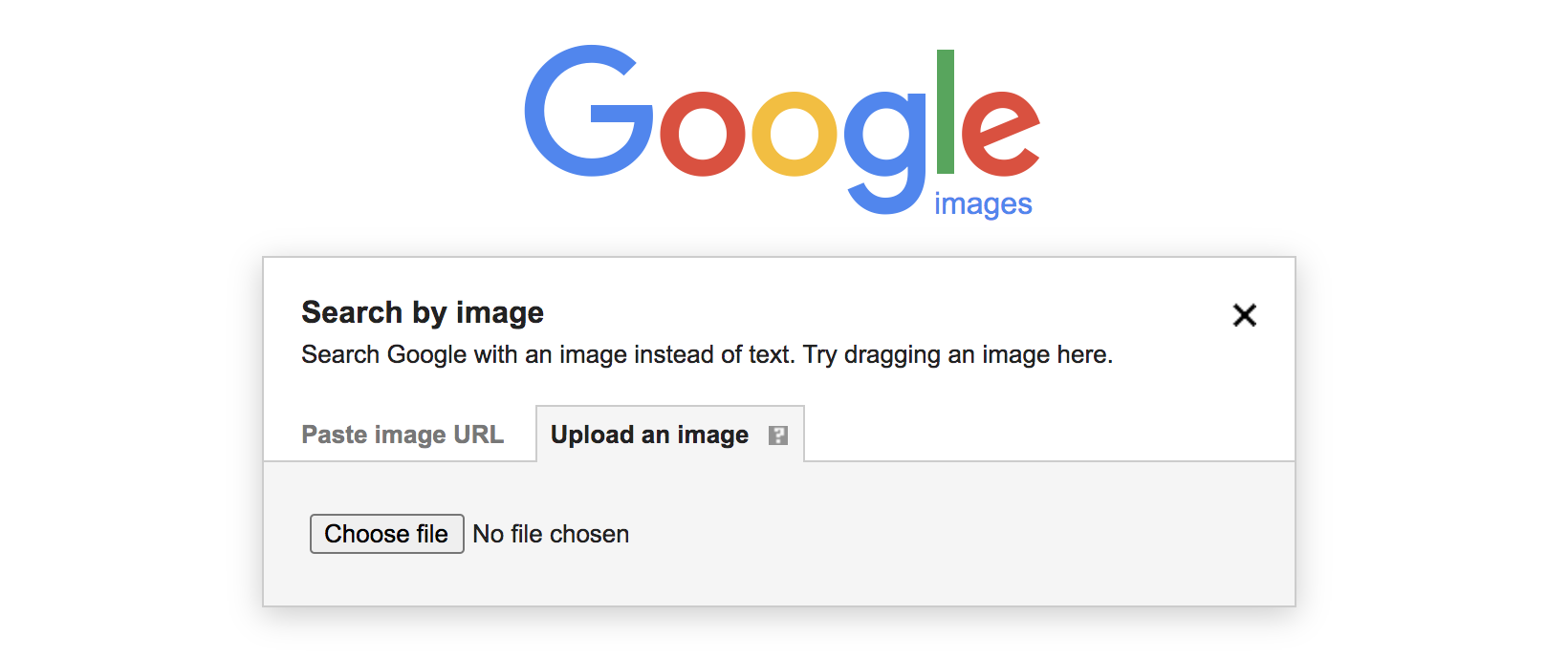 image upload search option on Google