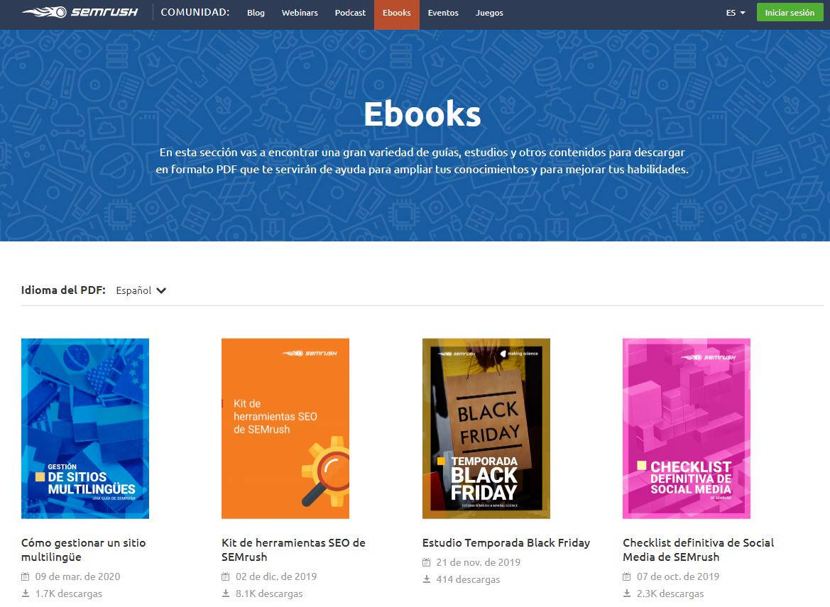 Qué es SEO - E-books ejemplo