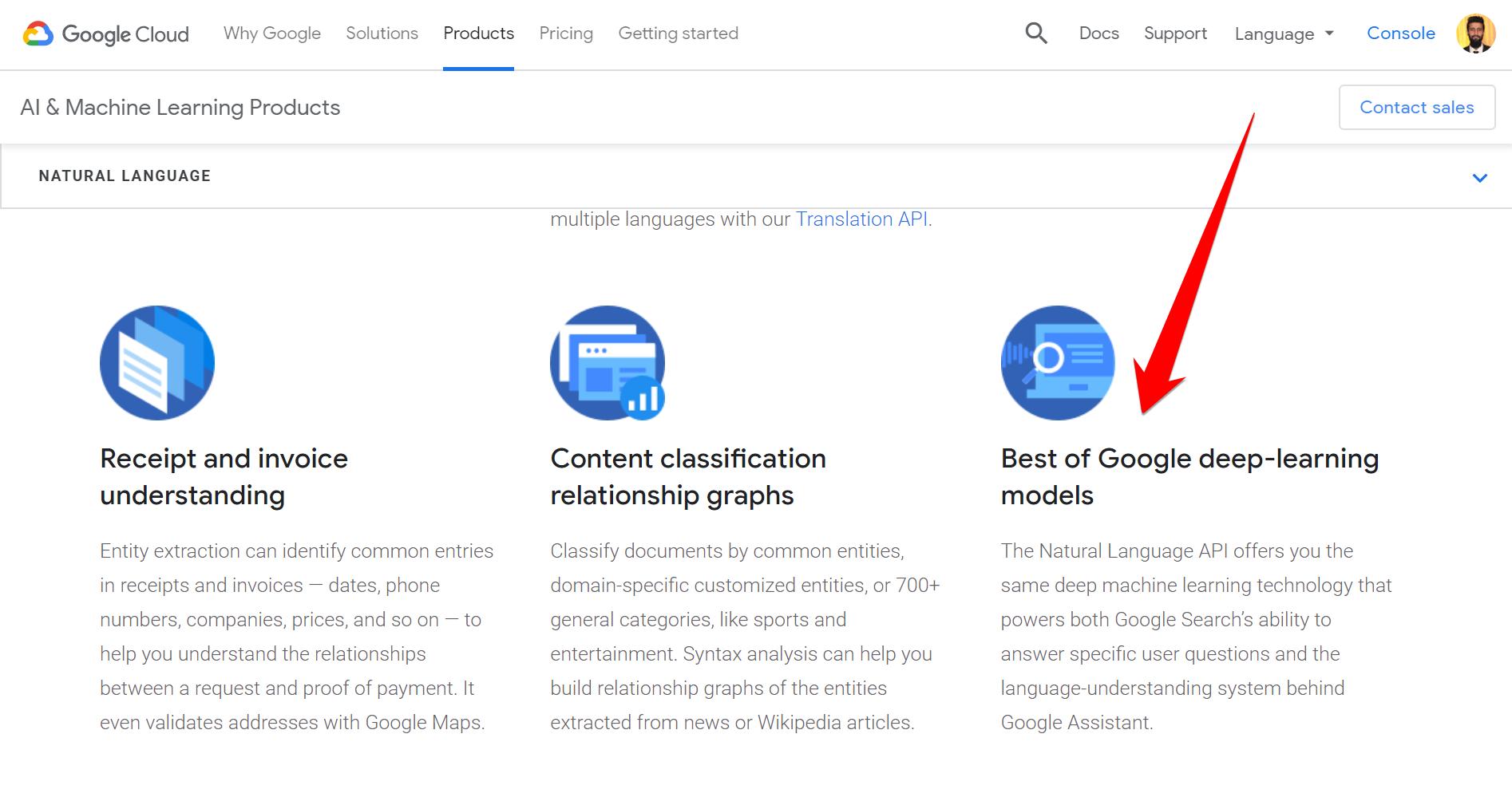 Best of Google deep-learning models screenshot