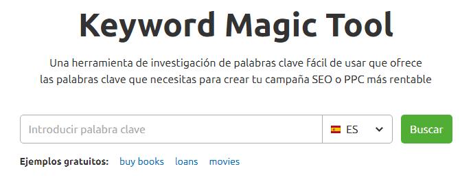 Qué es SEO - Acceso a Keyword Magic Tool de SEMrush