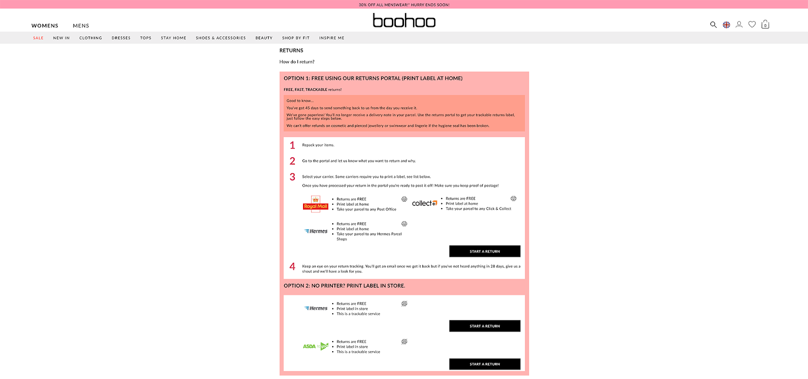 return process example to create trust to help move people through the sales funnel