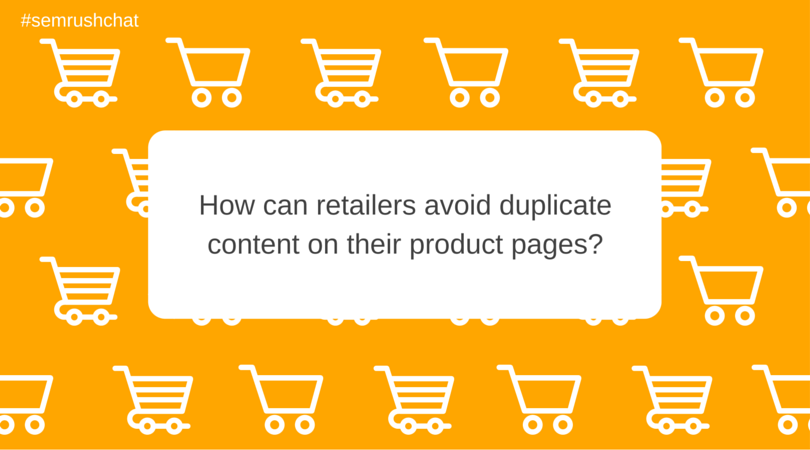 How to avoid duplicate content on product pages