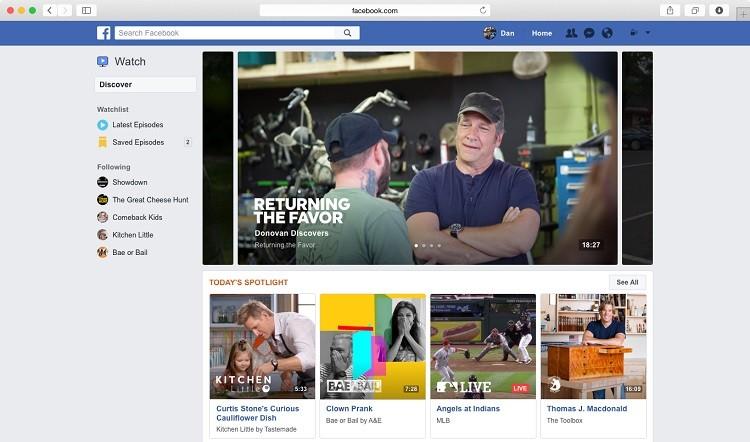 Plataformas de vídeo- Facebook watch ejemplos