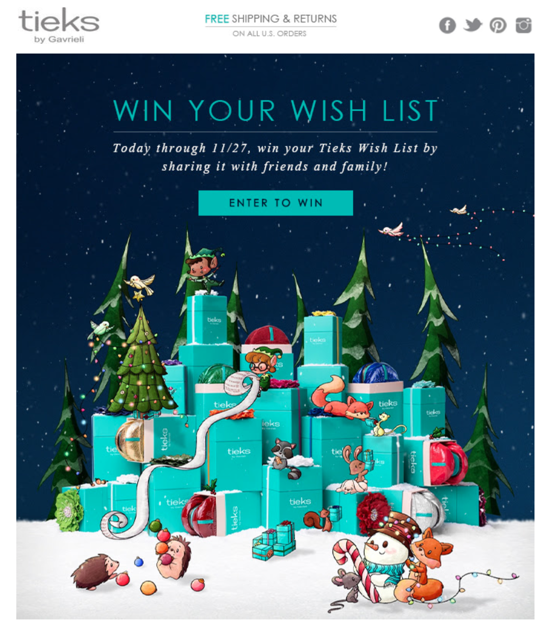 wishlists in emails