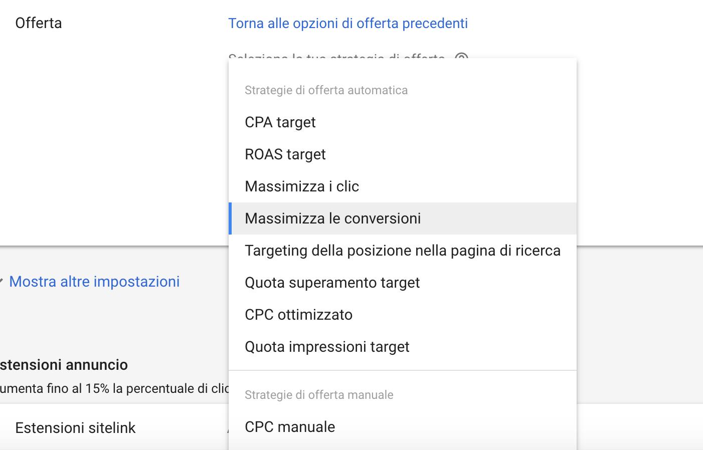 Strategie di offerta per Google Ads
