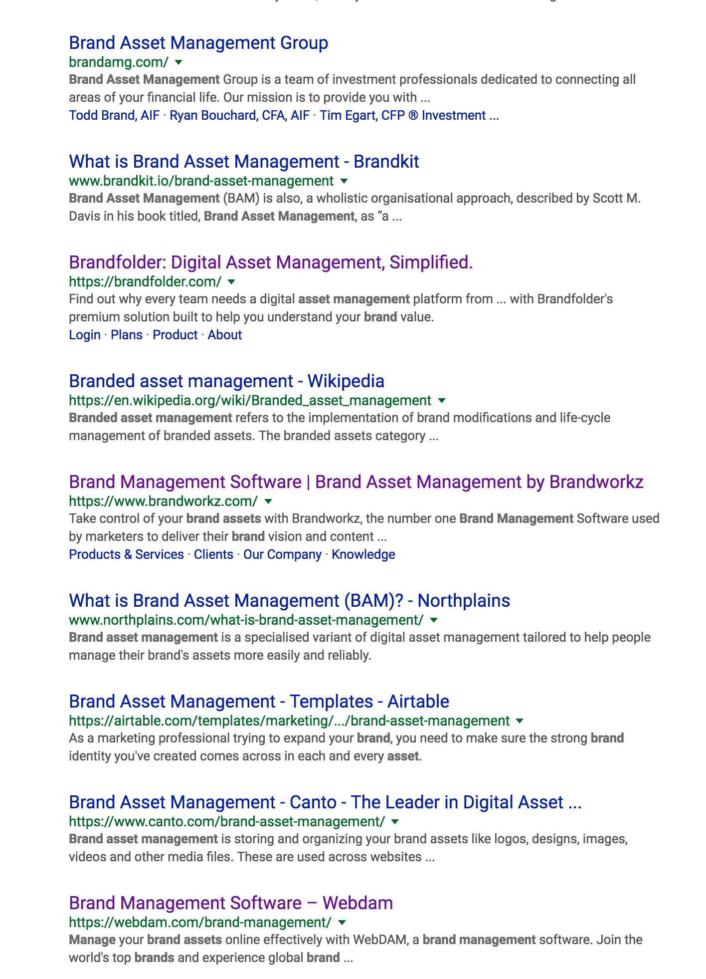 example of title tags in the SERPs