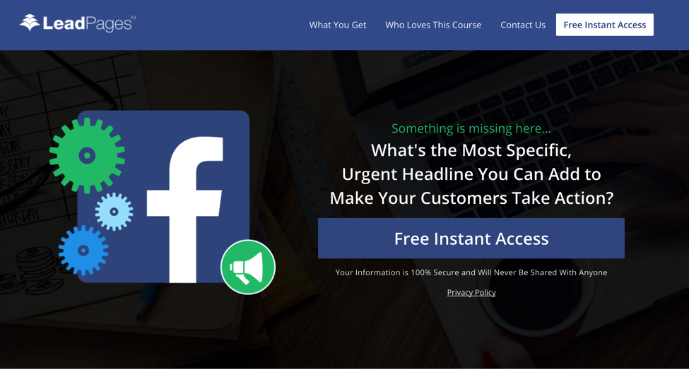 LeadPages Facebook
