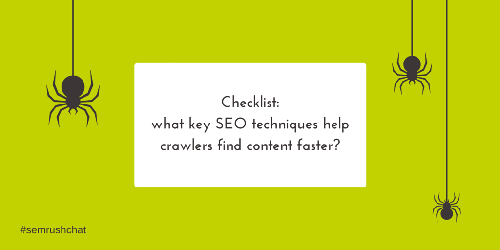 SEO techniques that help crawlers find content faster