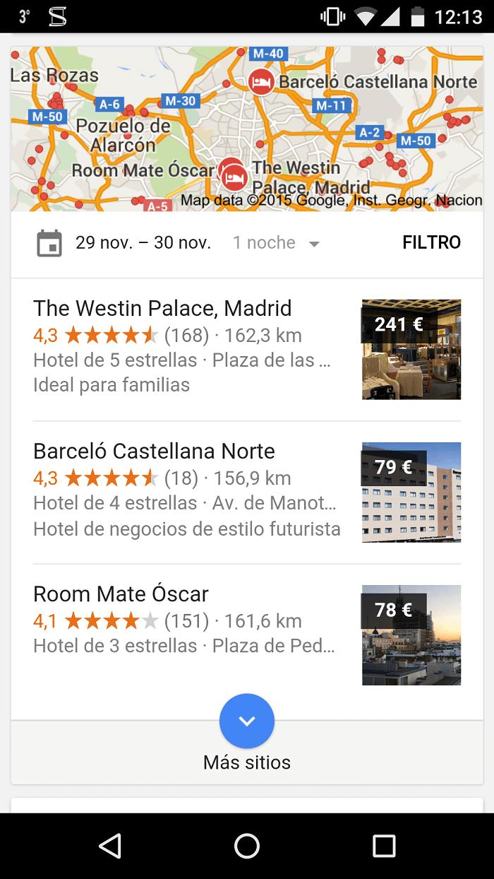 SEO local - Posición en mapa en móviles