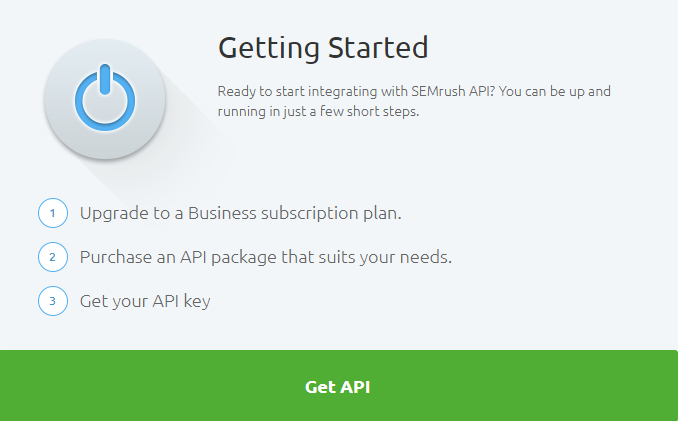 Empezar con la API de SEMrush
