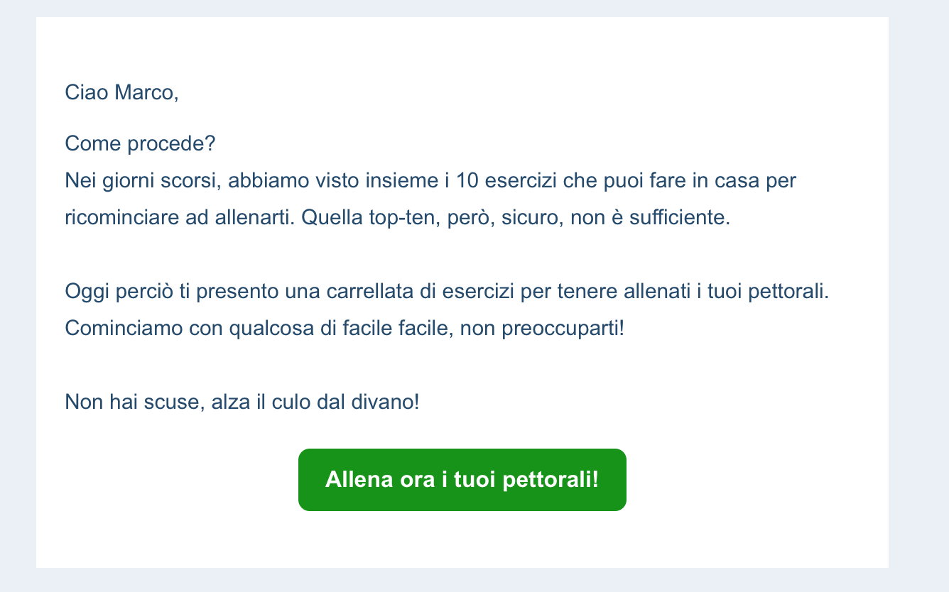 E-mail nurturing su HubSpot per personal trainer