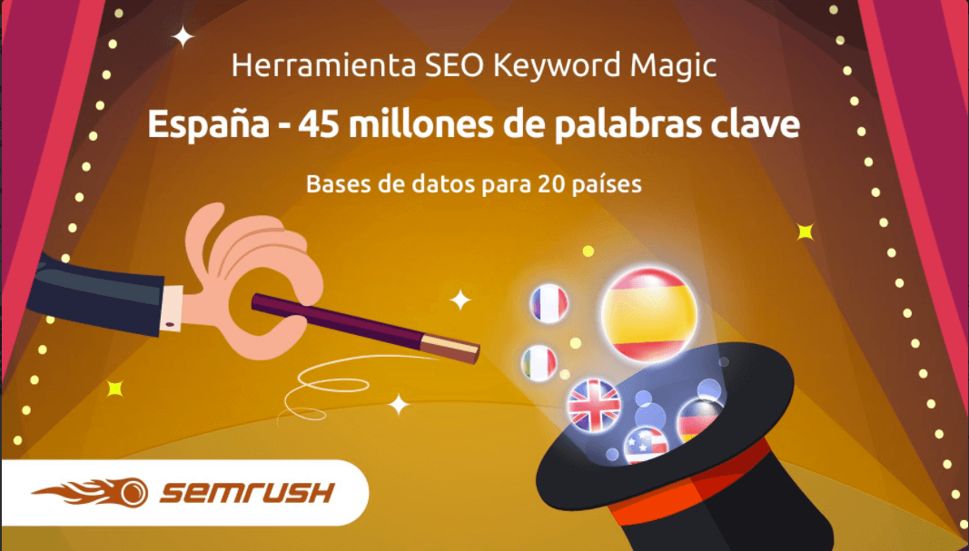 Consulta aquí SEO Keyword Magic Tool