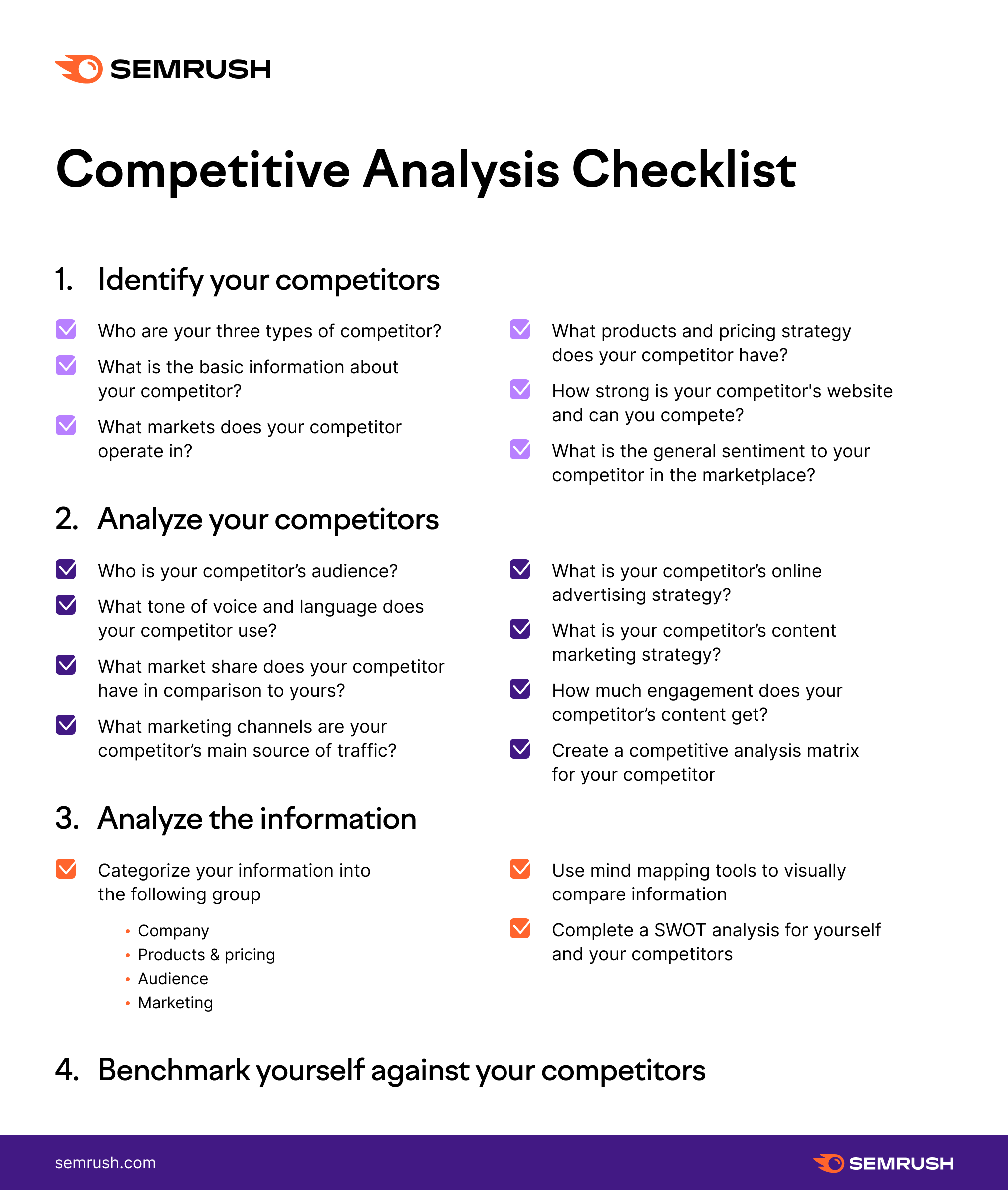 Competitive Analysis Checklist new