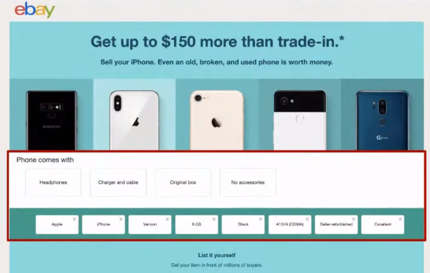 Ebay marketplace example