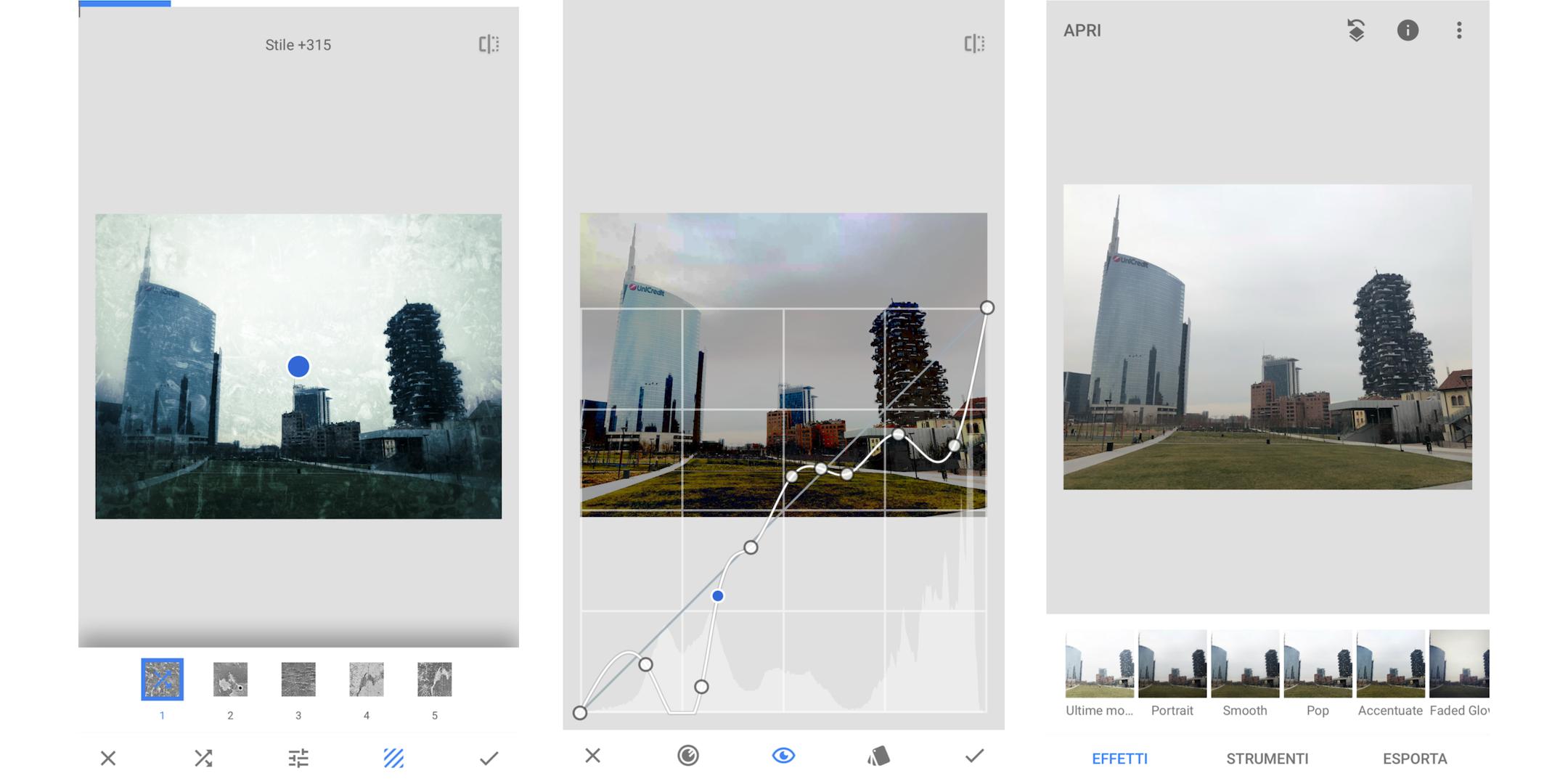 snapseed, app per foto di Instagram