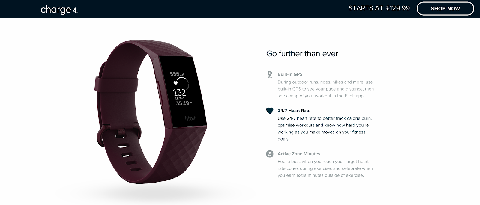 Fitbit example of good media for sales funnel