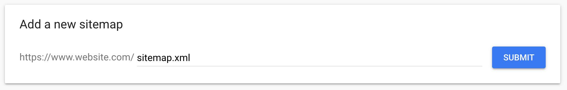 Adding a sitemap to Google box