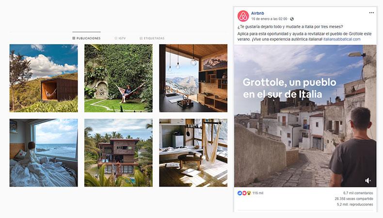 Agencia de social media - Ejemplo de contenidos Airbnb
