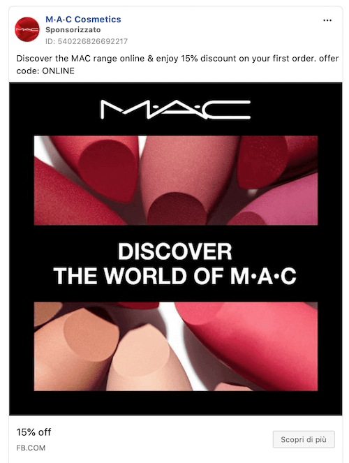 mac cosmetics facebook ads