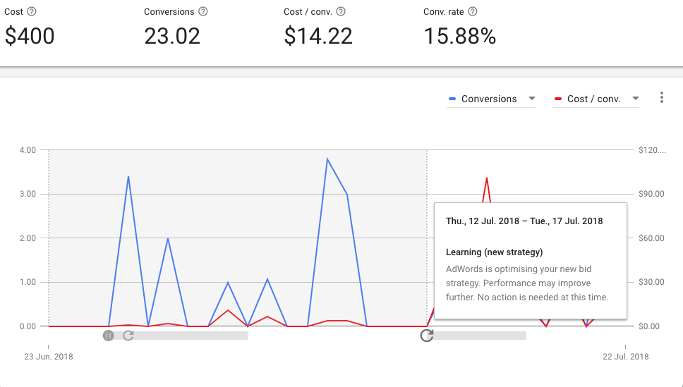 Google Smart Bidding Learning Period