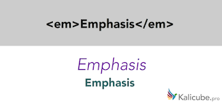 Example of semantic HTML5 tag - em