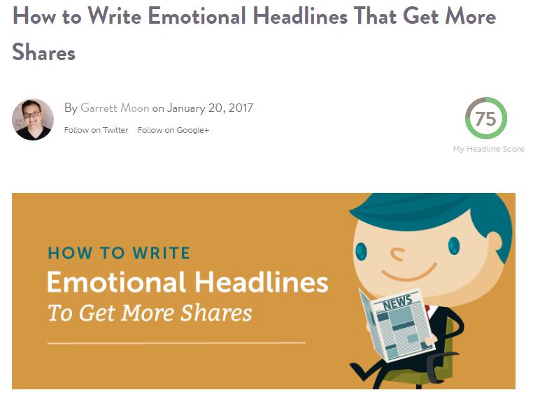 How to write emotional headlines