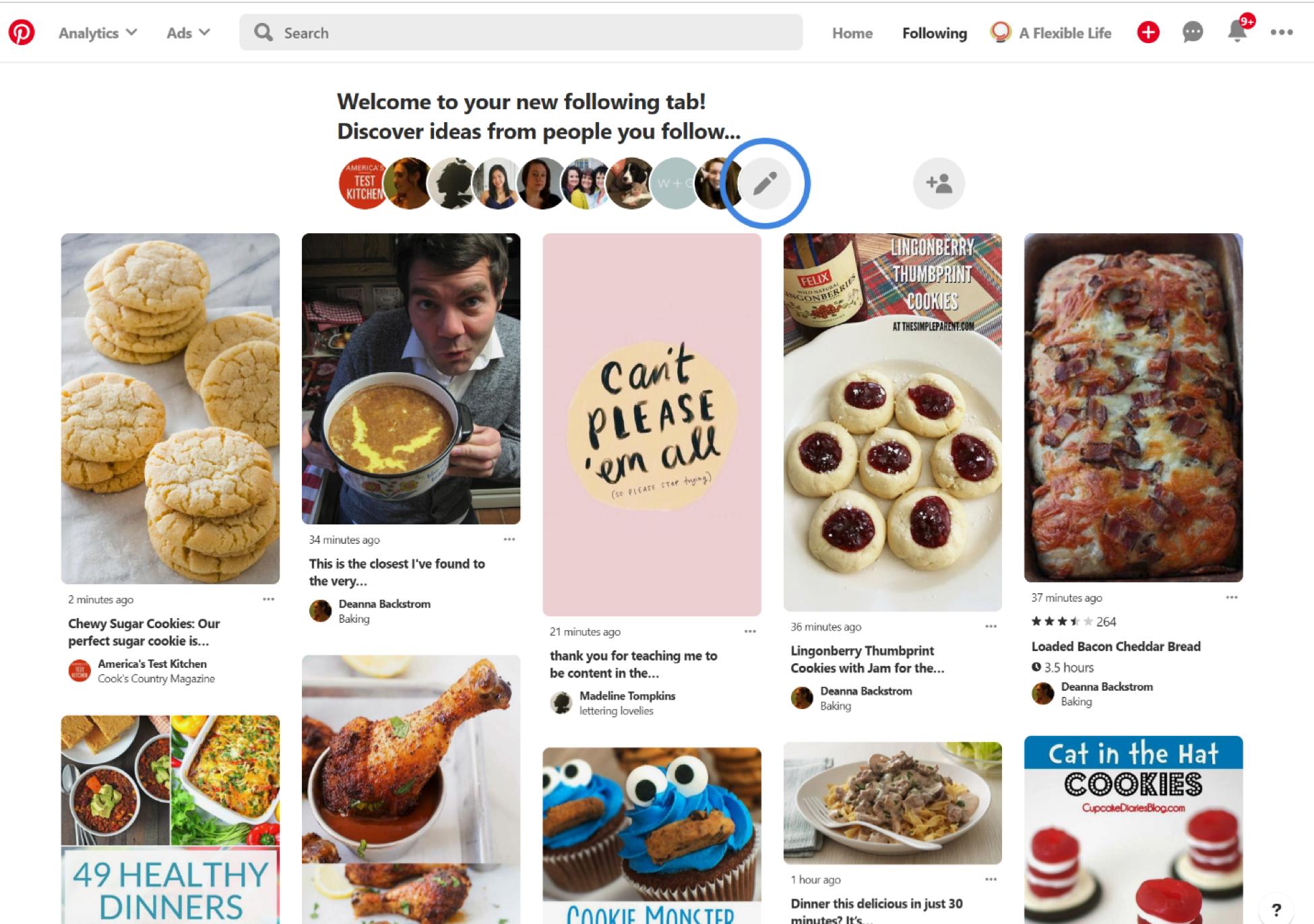 Cómo usar Pinterest - Feed de segudos