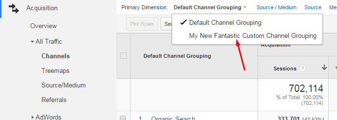 Choose Channel From Dropdown