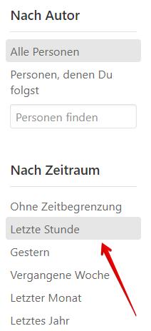 Suchergebnisse filtern bei Quora