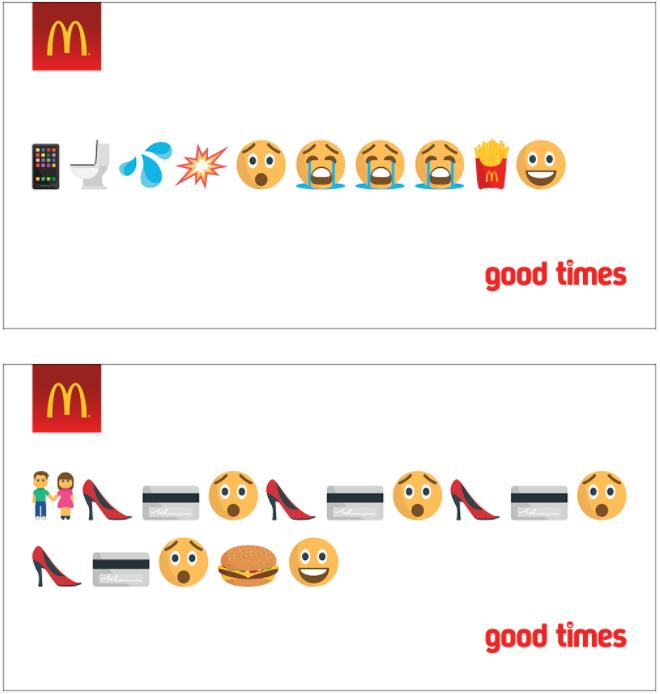 "McDonald's ""good times"" campaign"