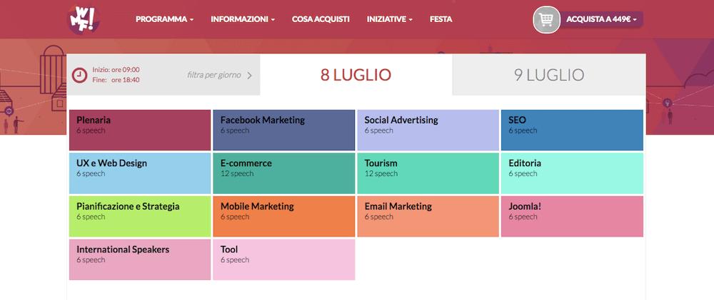 Web Marketing Festival: il programma dell'8 luglio 2016
