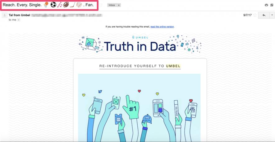 Come appaiono gli emoji quando apri l'email