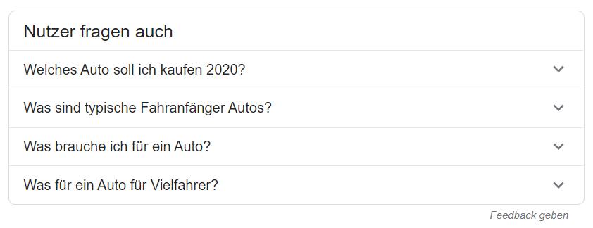 Google-Suche: Nutzer fragen auch